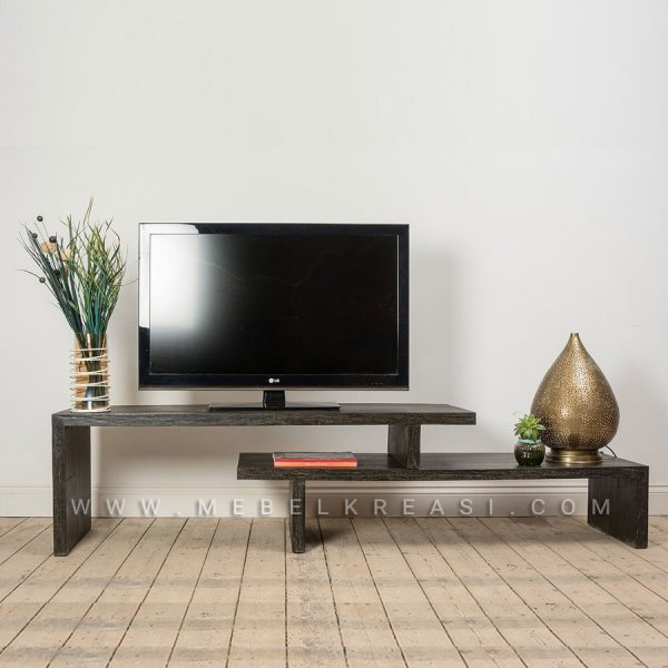 Jual Buffer TV Unit Unik Warna Hitam