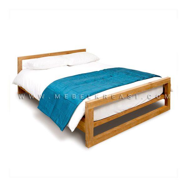 Jual Frame Tempat Tidur Mino Minimalis Kayu Jati