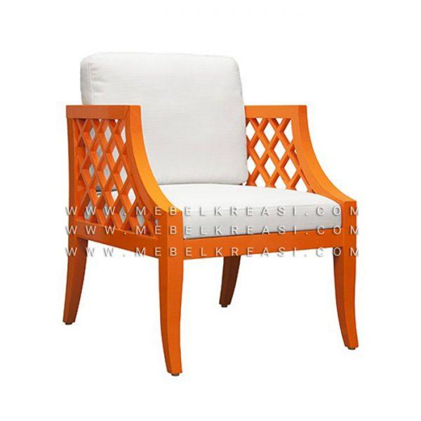 Jual Kursi Malas Sutton Minimalis Shabby Orange