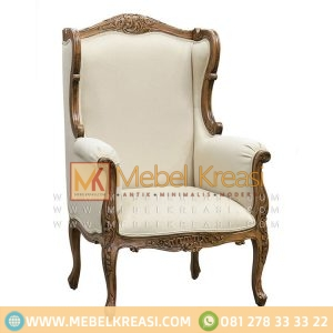 Jual Sofa Klasik Louis XV Whing Chair