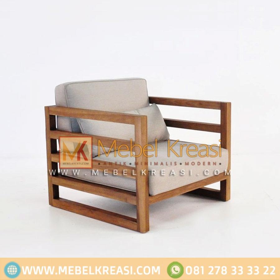 Jual Sofa Roboto Minimalis Kayu Jati