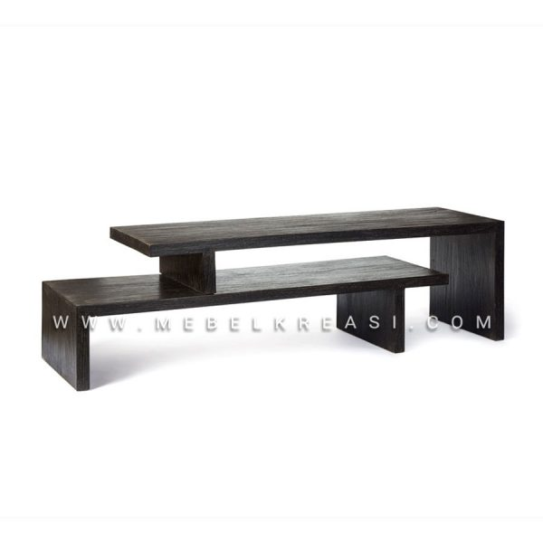 Jual TV Cabinet Jati Minimalis Extending Dark