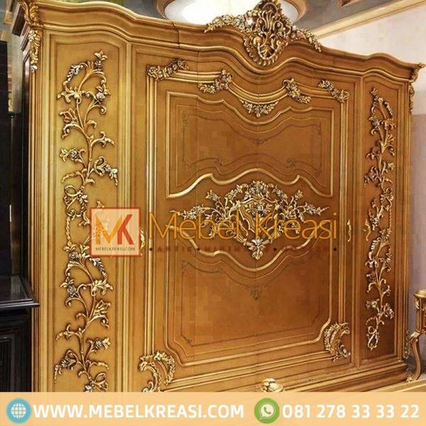 Harga Jual Kamar Mewah Eksklusif Antique Gold Almari Pakaian