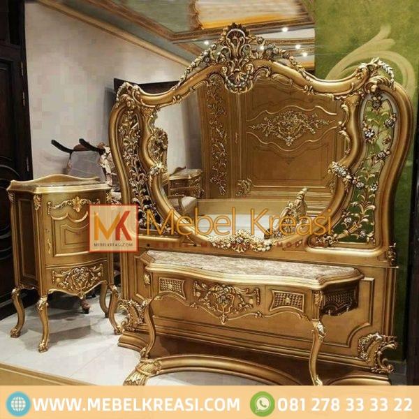 Harga Jual Kamar Mewah Eksklusif Antique Gold Meja Rias