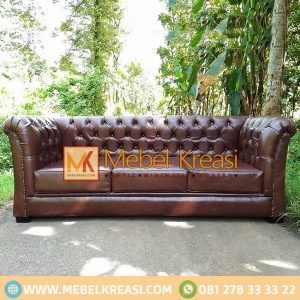 Harga Jual Sofa Single Leather Maron