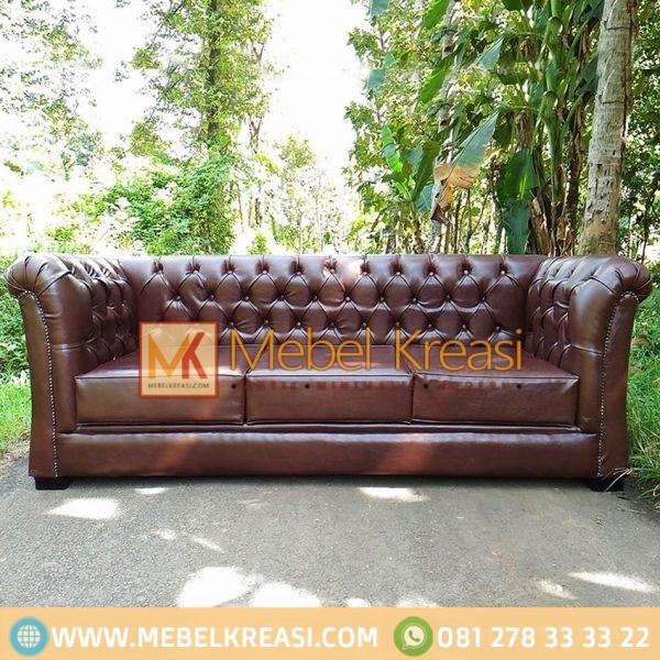 Harga Jual Sofa Single Leather Maron