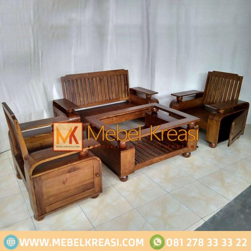 Kursi Tamu Minimalis Kayu Jati By Mebel Kreasi Furniture