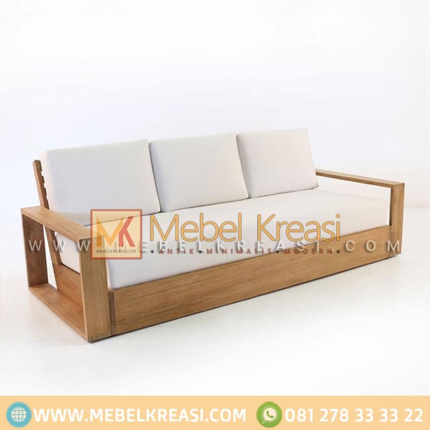 Sofa Jati Roboto Sedan Minimalis 3 Seater By Mebel Kreasi Jepara
