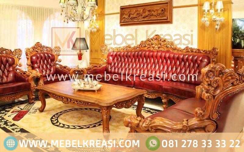 Set Sofa Tamu Jati Ukiran Mewah
