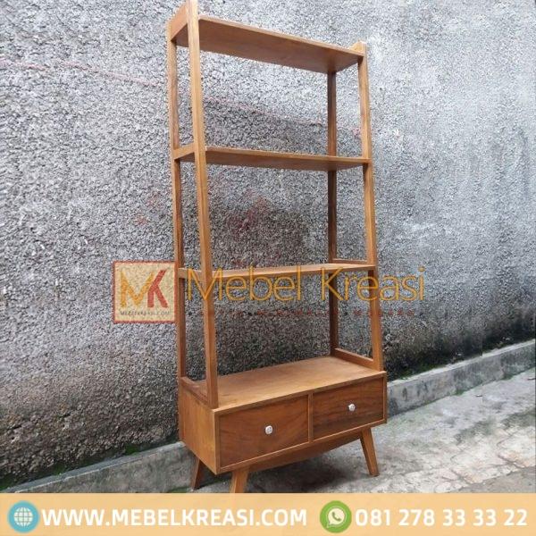 Harga Jual Lemari Pajangan Minimalis Vintage Jati