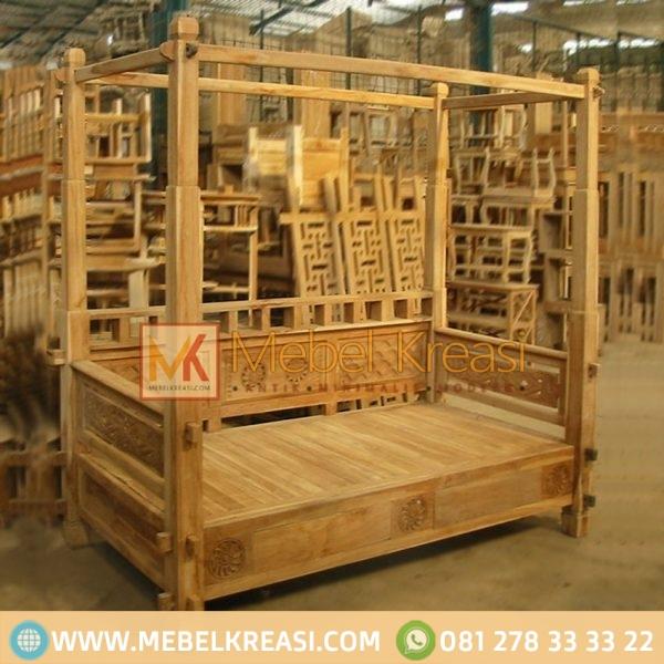 Harga Jual Sofa Daybed Jati Canopy