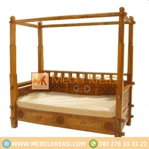 Harga Jual Sofa Daybed Jati Canopy Ukir Klasik