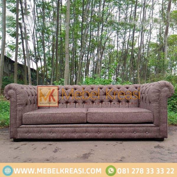 Harga Jual Sofa Fabric Cushion Brown
