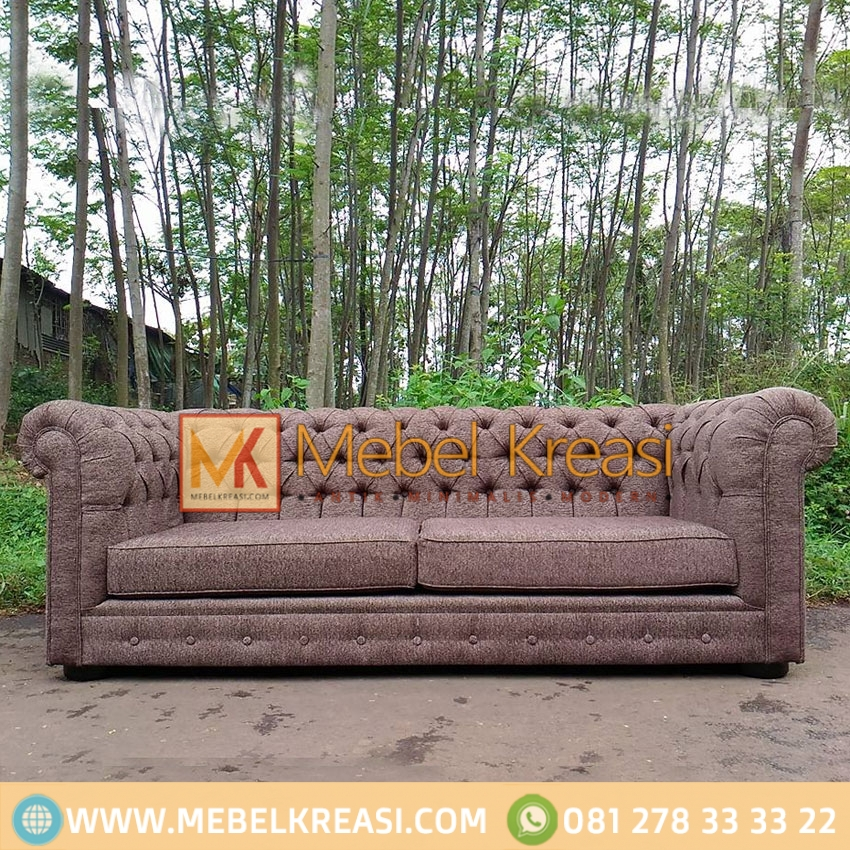 Harga Jual Sofa Fabric Cushion Brown