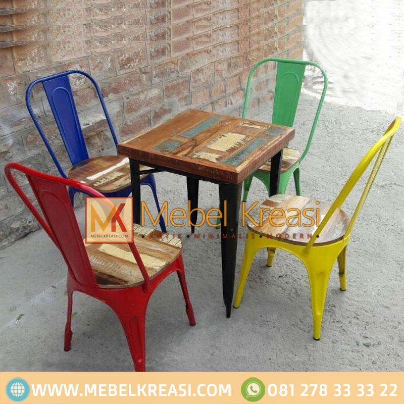 Set Meja Cafe Kursi Cooper Industrial By Mebel Kreasi Jepara